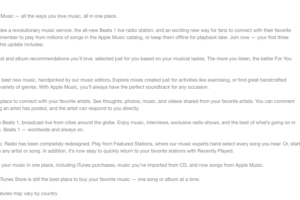 Big Push for Apple Music and Beats 1