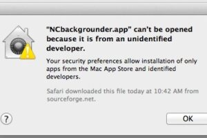 "Correction de l'erreur ""App can't be opened because it is from an unidentified developer"" dans Mac OS X"