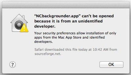 Correction de l'erreur «App can't be opened because it is from an unidentified developer» dans Mac OS X