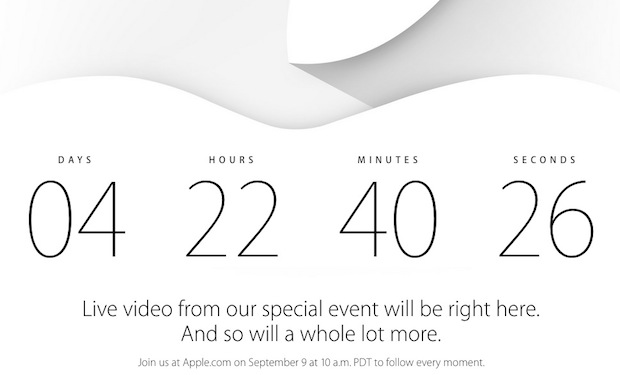 Apple diffusera en direct l'événement iPhone 6 et iWatch