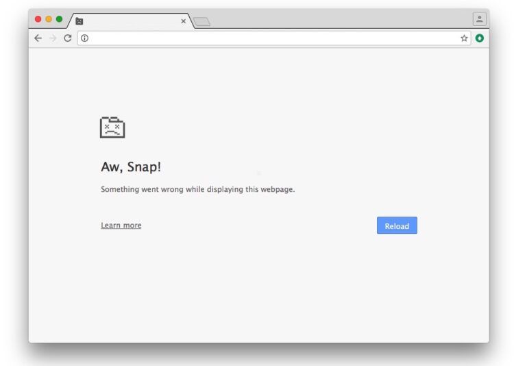 Correction de l'erreur de crash de la page « Aw Snap » dans Chrome
