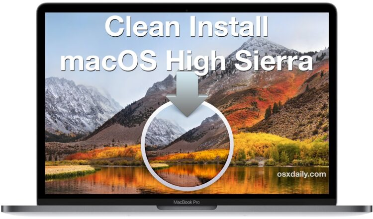Comment nettoyer Installer MacOS High Sierra