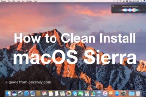 Comment nettoyer Installer macOS Sierra