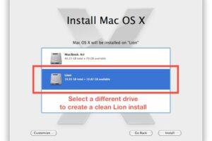 Explication de l'installation de Mac OS X Lion Clean