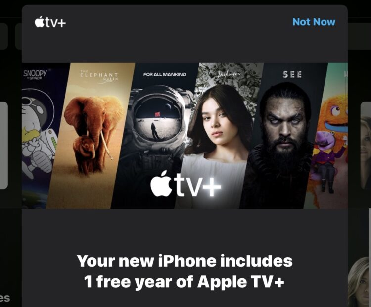 Comment s'abonner gratuitement à Apple TV+ pendant un an