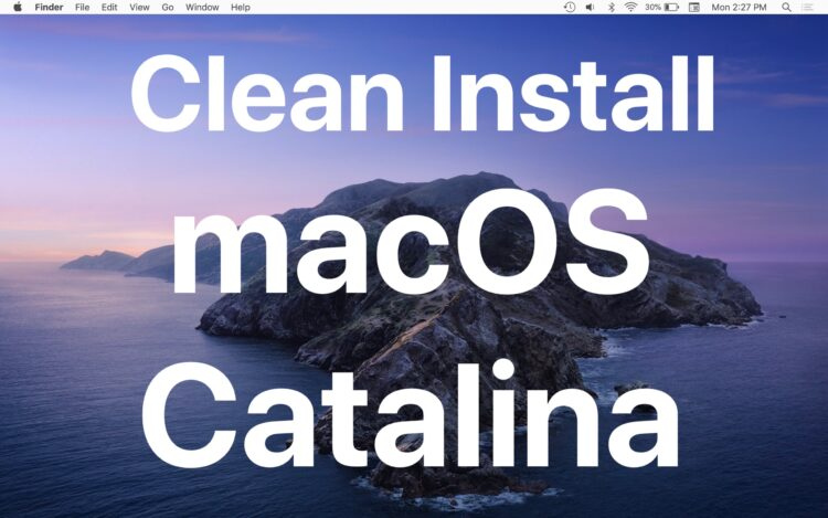 Comment nettoyer et installer MacOS Catalina