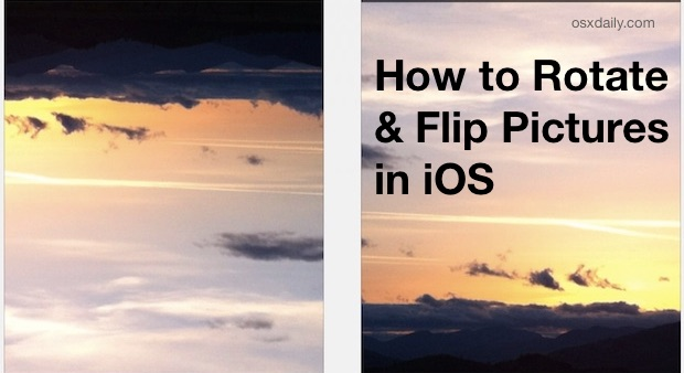 Comment faire pivoter des photos sur l'iPhone et l'iPad
