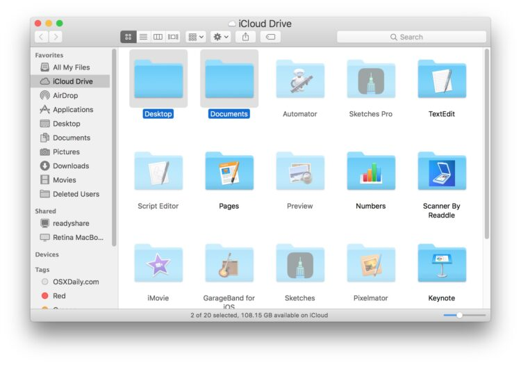 Comment désactiver iCloud Desktop & Documents sur Mac