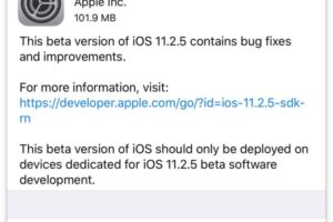 iOS 11.2.5 Beta 2 mis à l'essai