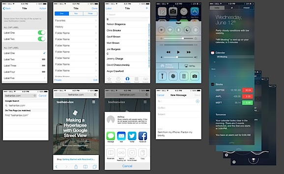 Maquillage facile des applications et interfaces iOS 7 avec un PSD de modèle d'interface graphique iOS 7 gratuit