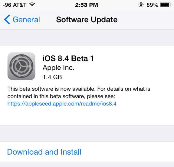 iOS 8.4 Public Beta 1 et iOS 8.4 Beta 2 mis à l'essai