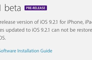 iOS 9.2.1 Beta 1 mis à l'essai