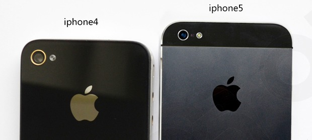 Plus de photos de la surface de l'iPhone 5, comparaison avec la taille de l'iPhone 4 et 3GS