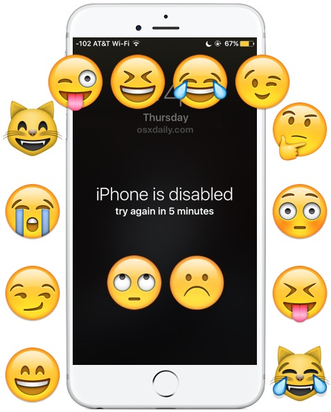 Les poissons d'avril ! La farce du fond d'écran « iPhone is Disabled