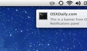 Sons d'alerte du Centre de notification silencieux sous Mac OS X