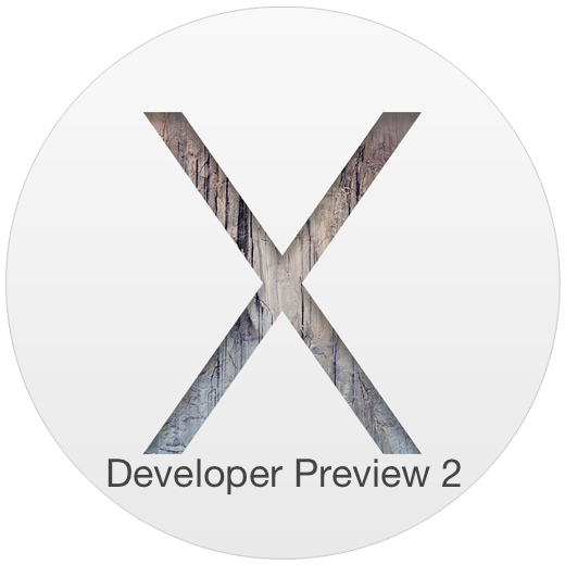 OS X Yosemite Developer Preview 2 publié par Apple