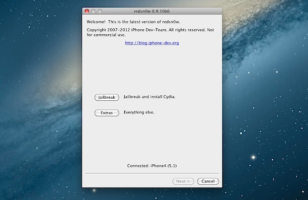 Redsn0w 0.9.10b6 Tethered Jailbreak for iOS 5.1 Disponible au téléchargement