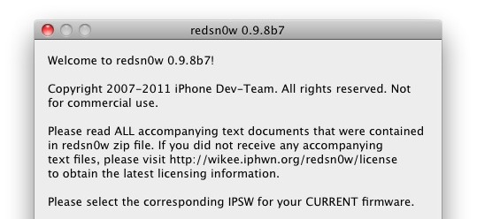 Redsn0w 0.9.8b7 simplifie la version 4.3.5 de Jailbreaking et fonctionne sur iOS 5 Beta 7