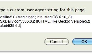 Spoof Your Own Mac OS X 10.8 User Agent