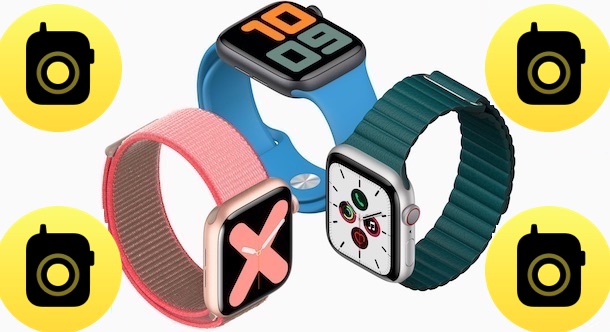 Apple Watches with walkie-talkie app