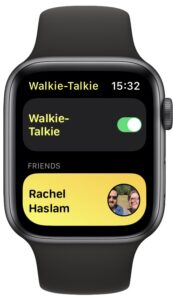 Toggle walkie-talkie on or off