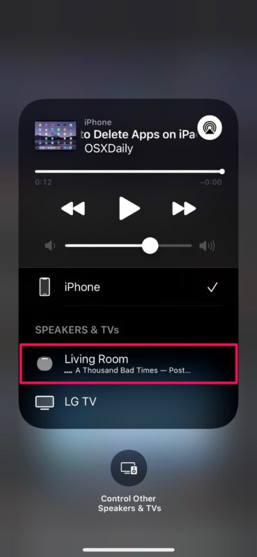 Comment AirPlay YouTube Audio sur HomePod