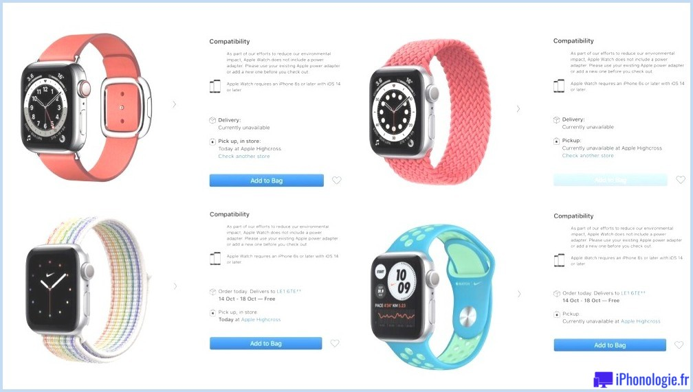 Actions Apple Watch